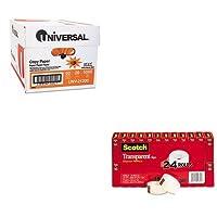 kitmmm600K24unv21200–Valueキット–Scotch透明テープ( mmm600K24)とユニバーサルコピー用紙( unv21200)