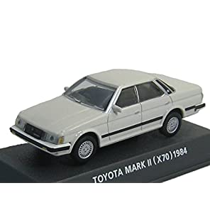 コナミ 1/64 Car of the 80's EDITION RED トヨタ MARK-Ⅱ マーク2 型式X70 1984 白