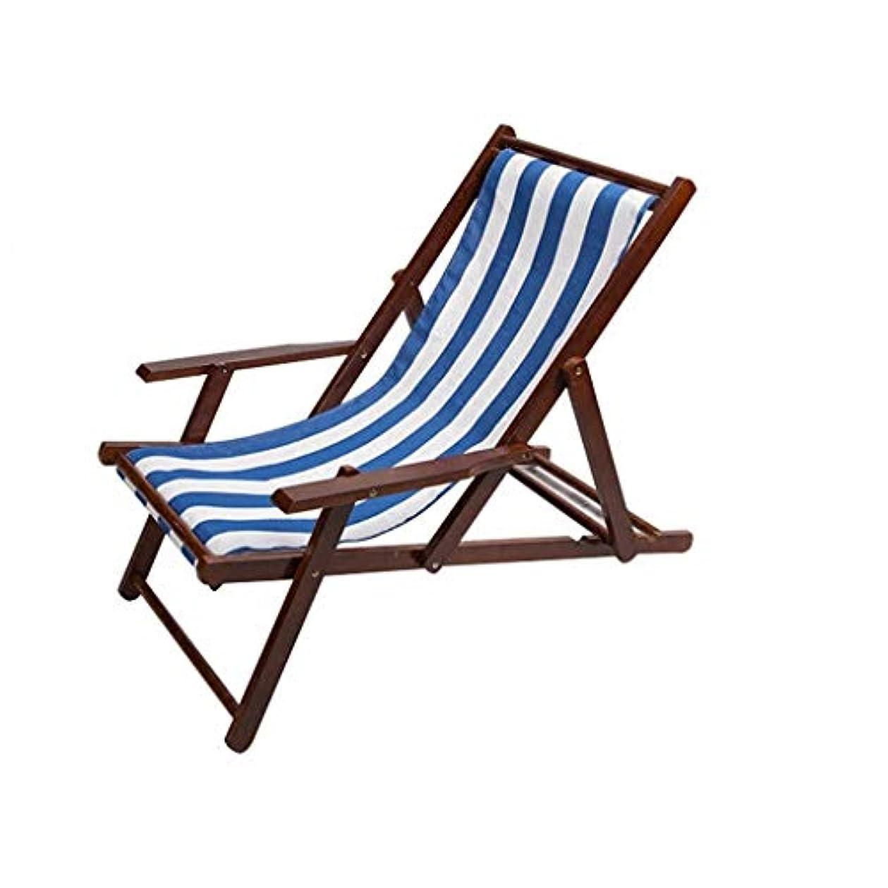 マニュアル偽善者経済的ロッキングチェア 木製の折りたたみレジャー枕を持つレイジーデッキチェア調節可能なキャンプ用ビーチガーデンバルコニーベッドルームの負荷容量80kg(多色) (色 : #1)