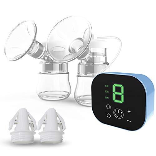 さく乳機 電動 搾乳器 母乳アシスト ハンズフリー ダブルポンプ 逆流防止 LCD液晶表示 日本語説明書付き