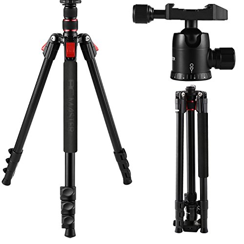BC Master 193cm カメラ三脚 4段 雲台 軽量&安定性 三脚ケース  Canon Nikon Sony 一眼レフ ビデオカメラ用