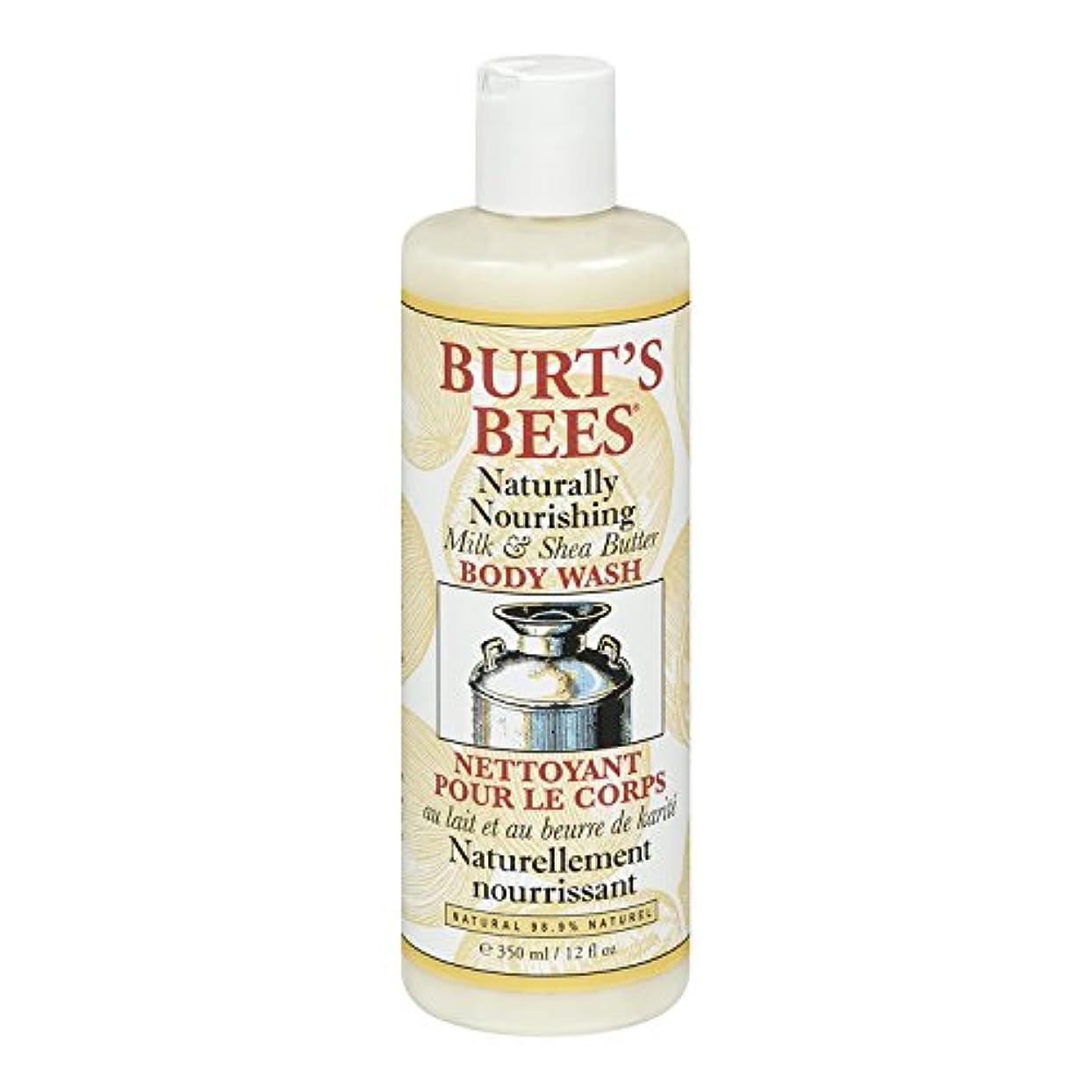 徐々に中古西部Burt's Bees Milk and Shea Butter Body Wash 350ml