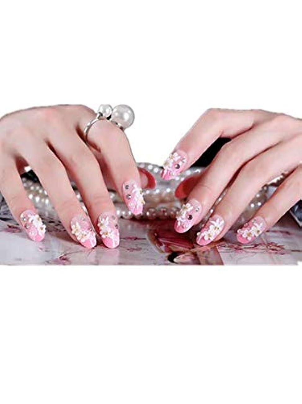 メッシュ長くするなんとなく花嫁の人工爪ガム ピンク 24pcs