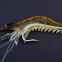 ホット 1Pcs 9センチメートルエビシミュレーションソフトエビのルアーフックは、餌釣りルアータックル 透明