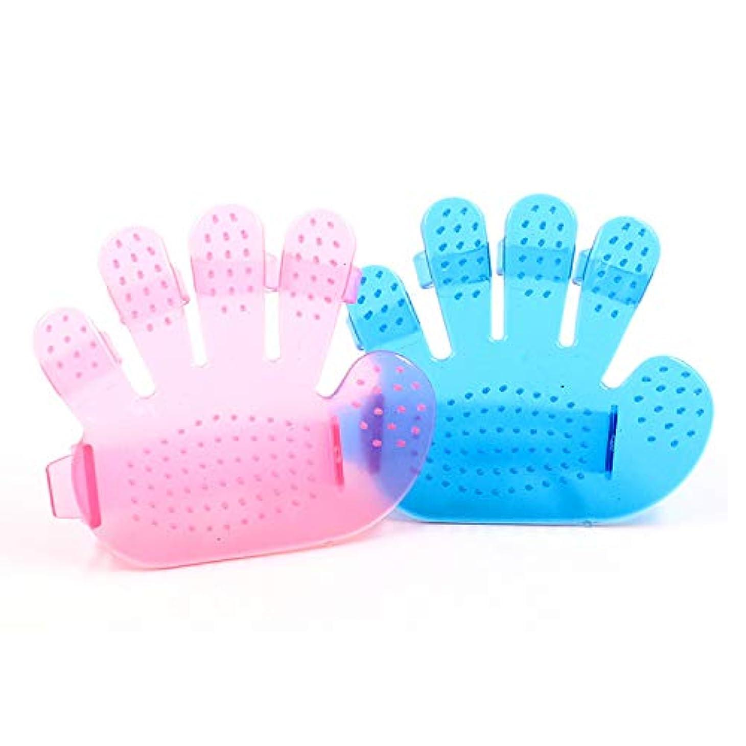 暖炉おとこ民間BTXXYJP ペット ブラシ 手袋 猫 ブラシ グローブ クリーナー 耐摩耗 抜け毛取り マッサージブラシ 犬 グローブ 10個 (Color : Pink, Size : M-Ten)