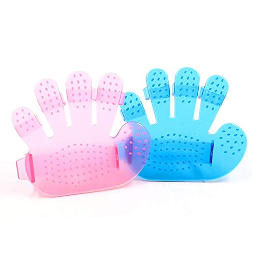 アルバム同等の通信網BTXXYJP ペット ブラシ 手袋 猫 ブラシ グローブ クリーナー 耐摩耗 抜け毛取り マッサージブラシ 犬 グローブ 10個 (Color : Pink, Size : M-Ten)