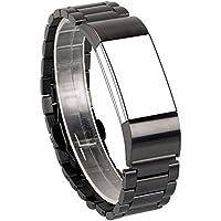 Fitbit Charge 2 バンド,Wearlizer Fitbit Charge2 ステンレスバンド フレーム 腕時計ベルト 調整工具付 全4色