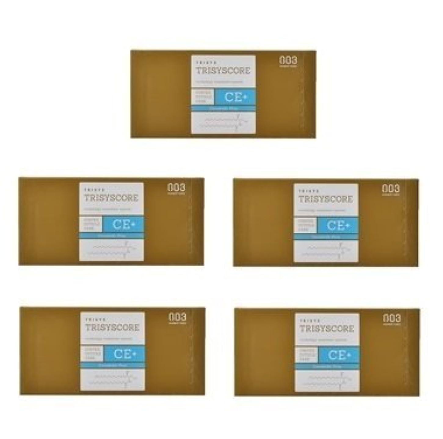 【X5個セット】ナンバースリー トリシスコア CEプラス (ヘアトリートメント) 12g × 4包入り