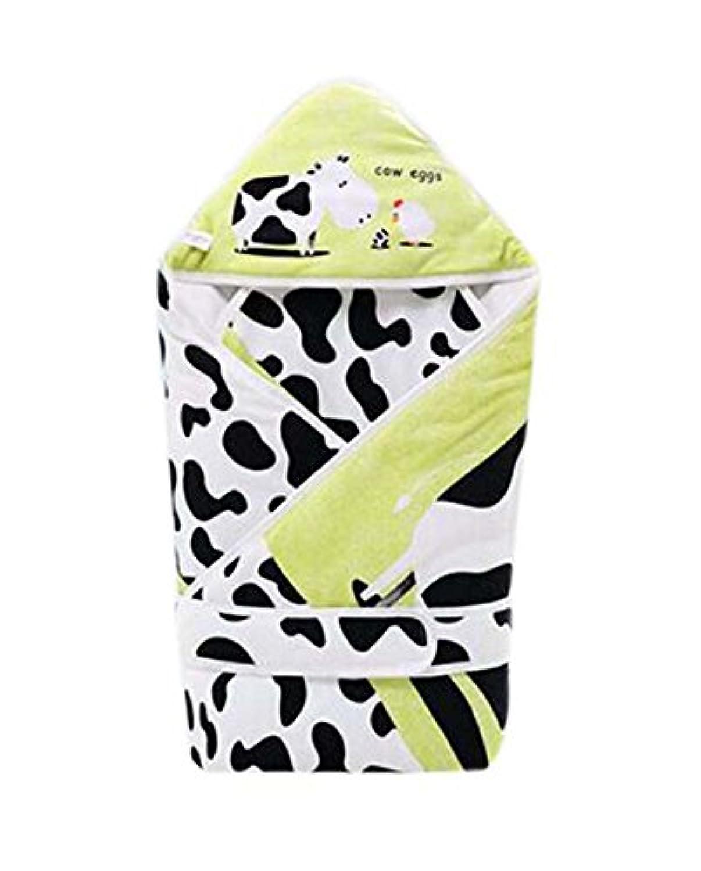 ミルク牛パターンソフトで快適なビット厚手のキルトベビー押さえつけるブランケット