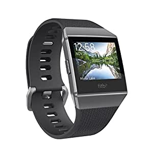 Fitbit フィットビット スマートウォッチ iONIC 心拍 睡眠 パーソナルコーチ GPS搭載 耐水性能チャコール/スモークグレー L/Sサイズ[日本正規品]
