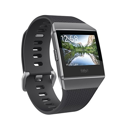 Fitbit フィットビット スマートウォッチ iONIC 心拍 睡眠 パーソナルコーチ GPS搭載 耐水性能 Charcoal/Smoke Gray チャコール/スモークグレー L/Sサイズ【日本正規品】 FB503GYBK-CJK