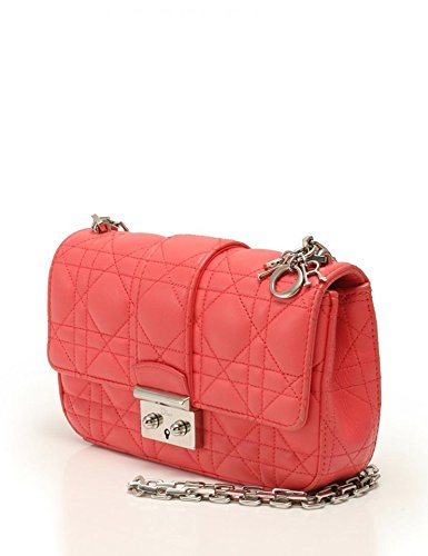 (ディオール)Dior ミスディオール チェーン ショルダーバッグ ラムスキン ピンク×シルバー(金具) 中古