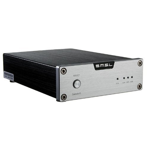 SMSL Sanskrit 24bit 96kHZ DACエンコーダー、USB、光ファイバー、同軸入力 (シルバー Silver)