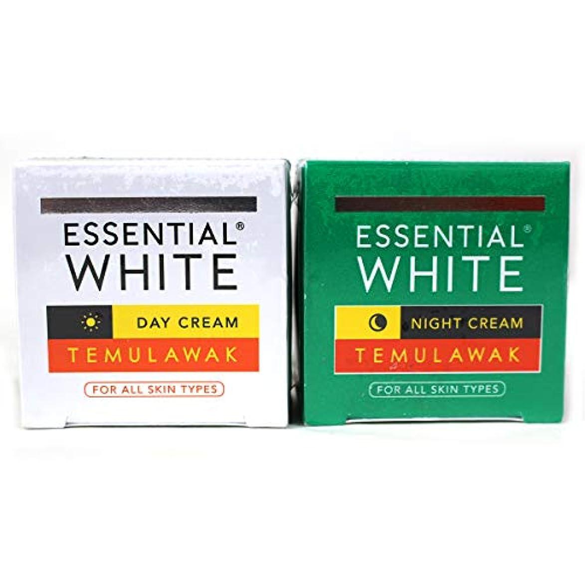 樹皮自発相関するギジ gizi Essential White フェイスクリーム ボトルタイプ 日中用&ナイト用セット 9g ×2個 テムラワク ウコン など天然成分配合 [海外直送品]