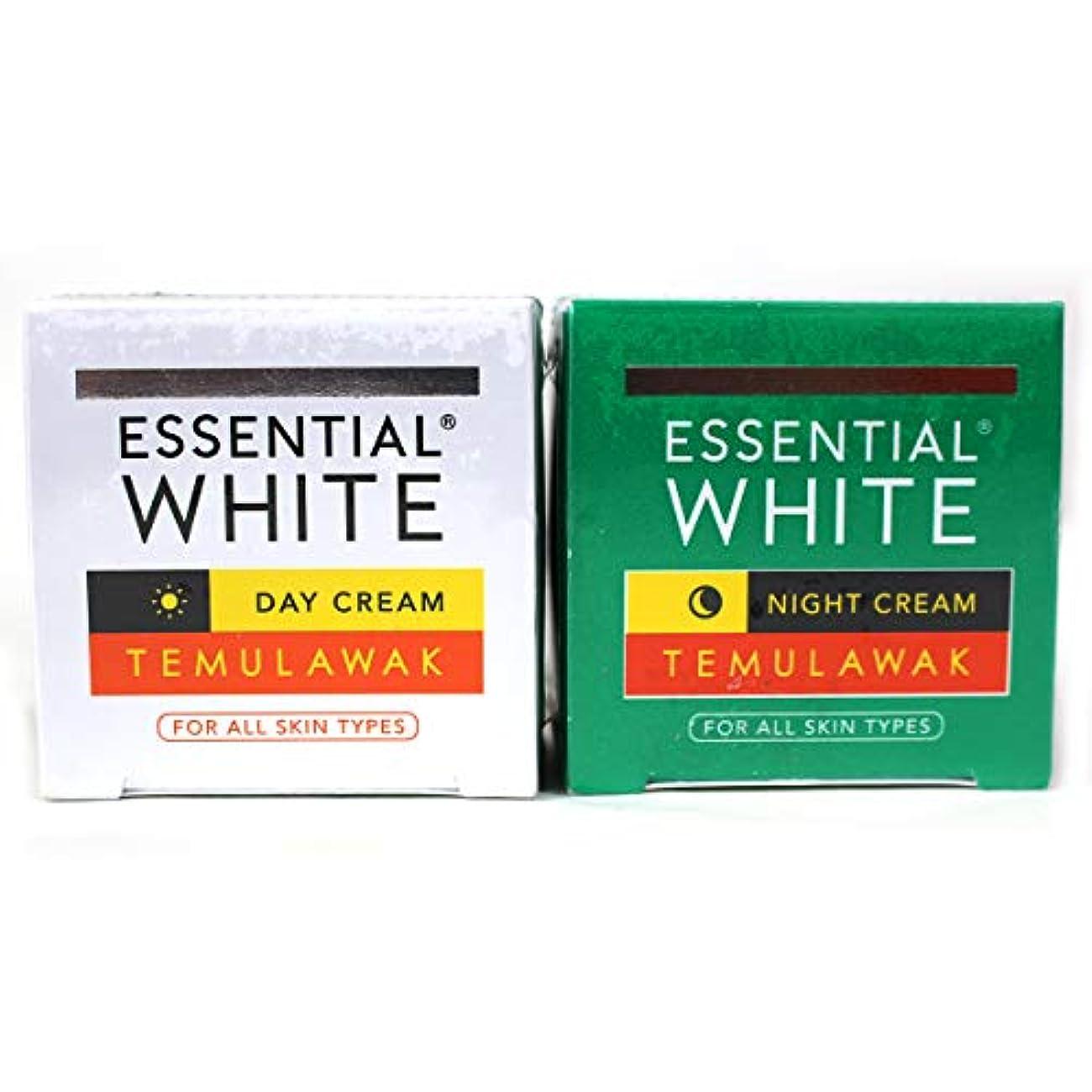 組み立てるアジア信頼ギジ gizi Essential White フェイスクリーム ボトルタイプ 日中用&ナイト用セット 9g ×2個 テムラワク ウコン など天然成分配合 [海外直送品]