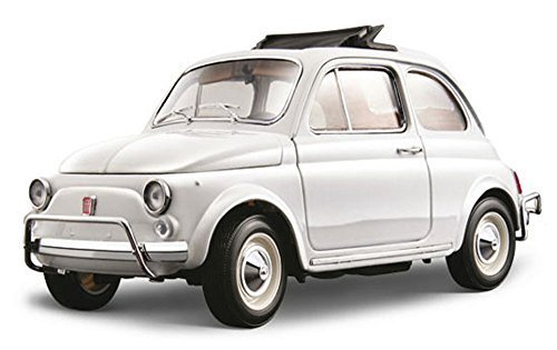 1968 Fiat 500 L, White - Bburago 12035 - 1/18 scale Diecast Model Toy Car by Bburago [並行輸入品]