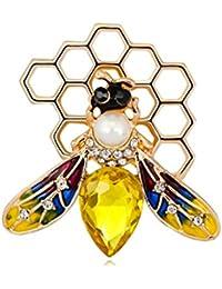 Kofun ブローチ, 蜂ブローチエナメル衣類のバックパックピンクリエイティブコサージュバッジのアイコン