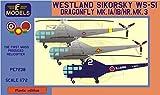 LFモデル 1/72 ウェストランド・シコルスキー WS-51ドラゴンフライ Mk.1A/1B/HR.MK.3 タイ スリランカ 日本 プラモデル LFMPE7238