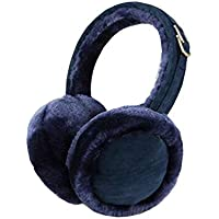 Chinashow Unisex Super Soft Folding Earmuffs Winter Earmuffs Ear Warmers,Navy
