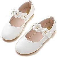 ALPHELIGANCE Girls Ballet Mary Jane Strap School Uniform Dress Flat Shoes (Toddler/Little Kid)