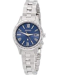 [ルキア]LUKIA 腕時計 LUKIA ソーラー電波 エターナルブルー限定 限定800本 ワールドタイム表記 プラチナダイヤシールド ダイヤ入り青文字盤 ペアモデル SSVV039 レディース