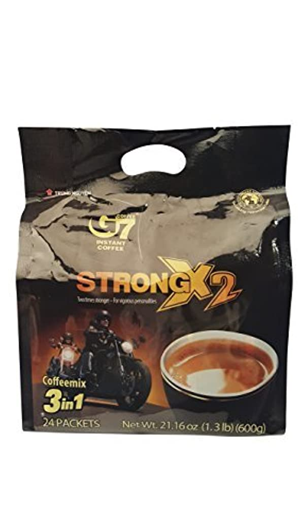 の慈悲でセクション地下G7 STRONG 2X Vietnamese 3 in 1 Coffee 21.16oz(600g) 24 Sticks [並行輸入品]