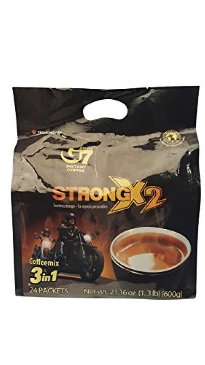 洗練前提優先権G7 STRONG 2X Vietnamese 3 in 1 Coffee 21.16oz(600g) 24 Sticks [並行輸入品]