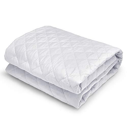 GuanZo 敷きパッド ベッドパッド 綿100% 丸洗いOK 静電気防止 シングル 通気吸湿 抗菌防臭 防ダニ 大人用 子供用 100*200cm ホワイト