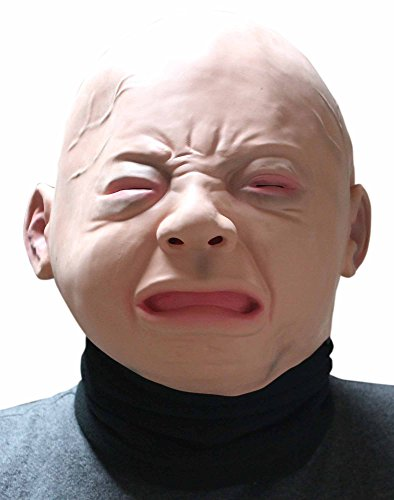 【MK GLOBAL】☆ネックウォーマー付☆リアル 赤ちゃん ベビー 泣き顔...
