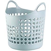 大きなプラスチック製収納バスケット 衣類 おもちゃ収納ボックス 29X37X38cm 29 * 38 * 37cm ブルー 0223