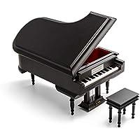 洗練された30ノートミニチュアミュージカルマットブラック グランドピアノ ベンチ付き 099. Waltz of the Flowers MBA-MS-MPY02-MATBLK-GRANDPIANO-30NOTE