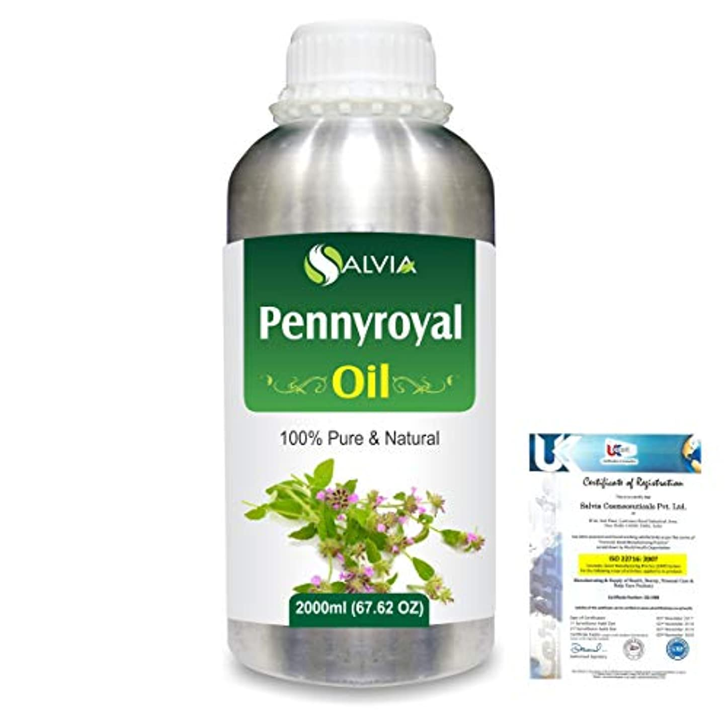 大西洋温かいの配列Pennyroyal (Mentha pulegium) 100% Natural Pure Essential Oil 2000ml/67 fl.oz.