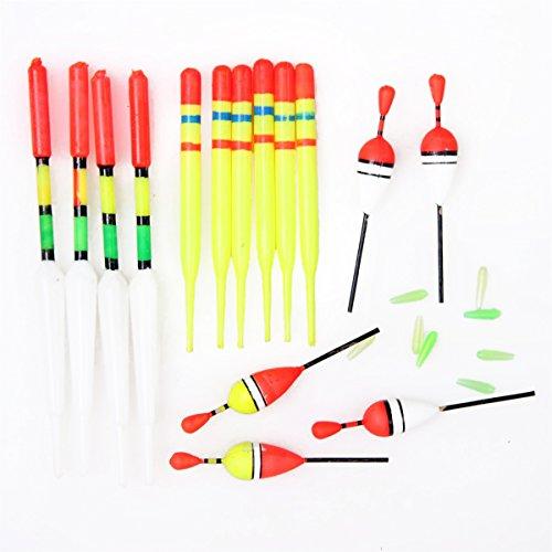 (ゼイゲウィン) Zigwin アウトドア スポーツ 15個セット フロート 釣り用品 釣りタックル 浮き プラスチック フロートツール