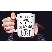 「Not all who wander are lost hand painted coffee mug, Wanderlust, Adventure decor-11オンス コーヒーマグ