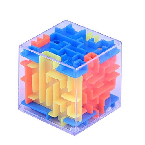 ❤Ywoow❤ キューブ 3Dキューブパズル 迷路 おもちゃ ハンド ゲーム ケース ボックス 楽しい脳 ゲーム チャレンジ フィジェット おもちゃ