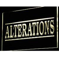 ADVPRO Alterations Services Dry Clean LED看板 ネオンプレート サイン 標識 Yellow 400 x 300mm st4s43-i809-y