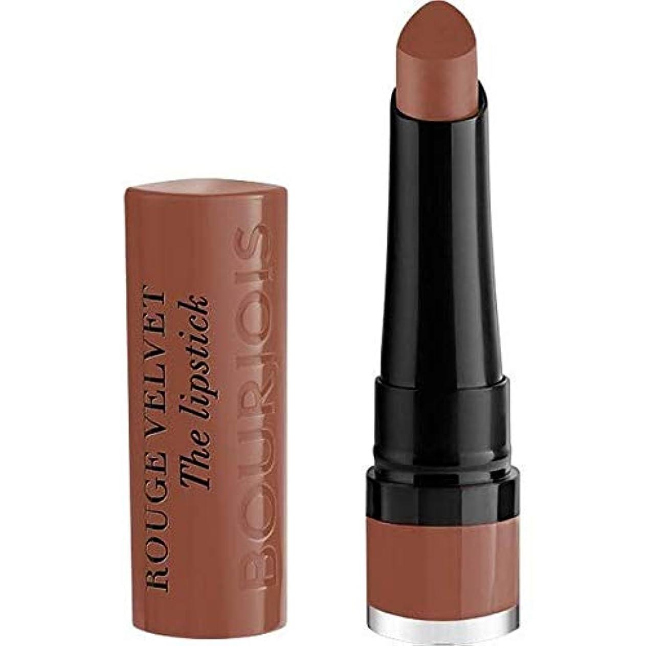 きちんとしたラテン上[Bourjois ] ブルジョワルージュのベルベットの口紅モカDero - Bourjois Rouge Velvet Lipstick Moka Dero [並行輸入品]