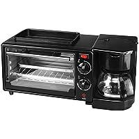 朝食机電気トースターマルチファンクショントースター3 In 1 Breakfast Machineホームトースターオーブン,Black