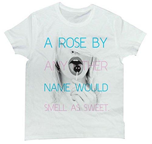 Tシャツ 半端ない透明感のモデル 某キャンディー意味ありげに舐める デザインTee