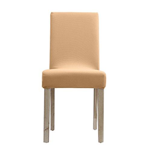 RoomClip商品情報 - Auralum FITS!椅子カバー ウルトラストレッチでぴったりフィット!驚くほどの伸縮素材 2way生地 高級感あり フィットタイプ Mサイズ らくだ色RK0153CA