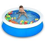 XUEP スイミングプール スイミングプール子供インフレータブルプレイプールフォールドバスタブ150 * 40センチ風呂シリンダーポット風呂バレルスイミングバケツ (Size : 150*40CM)
