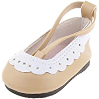 SONONIA  2足 18インチ ミニ靴 ストラップ アメリカガール人形用 シューズ カーキ