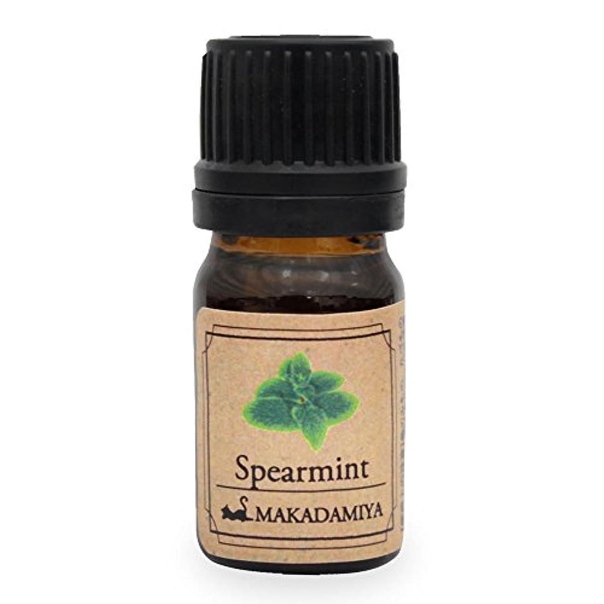 むき出し必要ない開発するスペアミント5ml 天然100%植物性 エッセンシャルオイル(精油) アロマオイル アロママッサージ aroma Spearmint