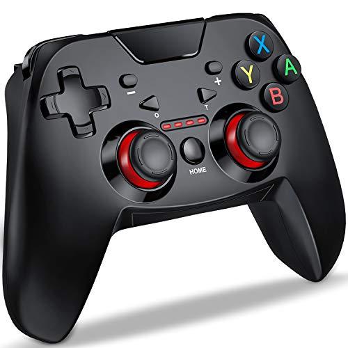 Switch コントローラー DinoFire スイッチ コントローラー 連射 HD振動 無線 プロコン 任天堂 Switch 対応 小型