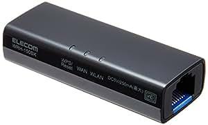 エレコム WiFiルーター 無線LAN ポータブル 150Mbps 11n/g/b WRH-150BK