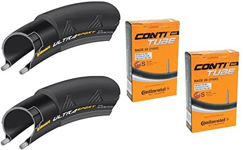 タイヤとチューブ2本セット Continental(コンチネンタル) UltraSport2 ウルトラスポーツ2 (700×25C-仏式42mm) [並行輸入品]