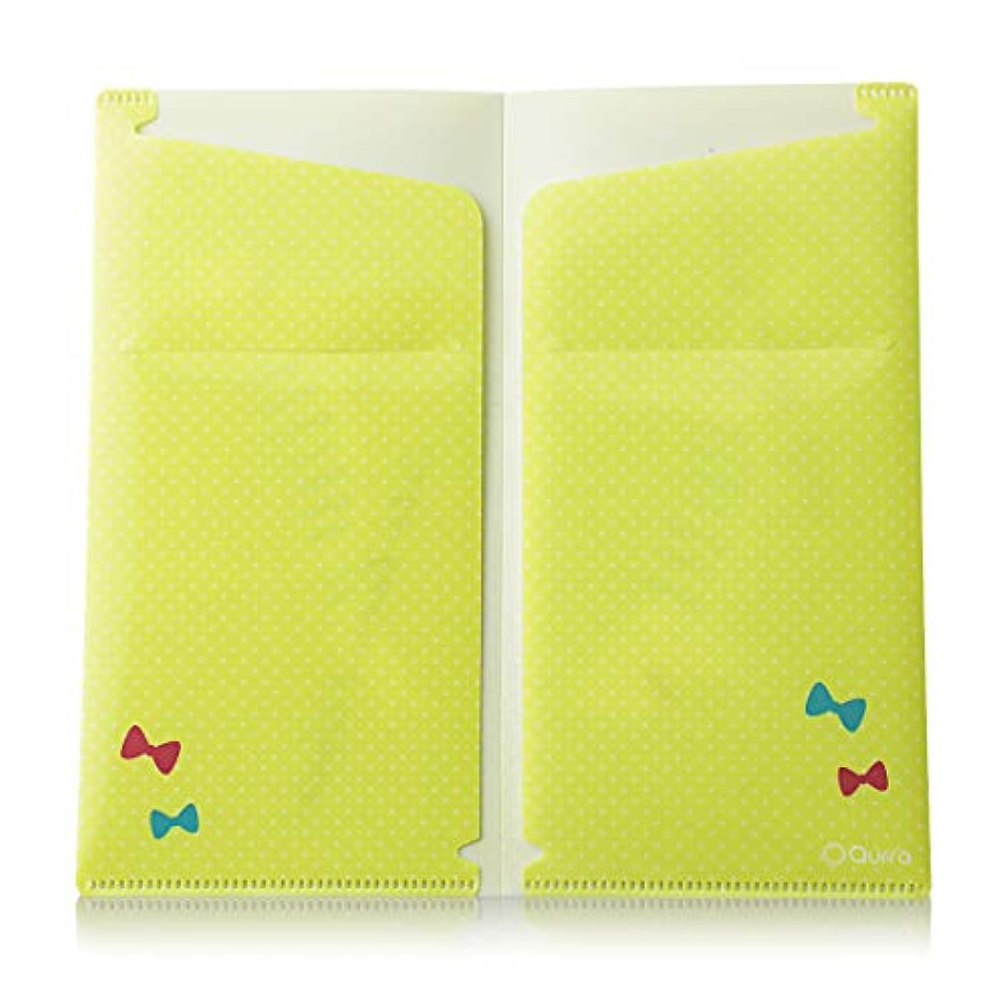 食品便益海Qurra(Beauty) 抗菌マスク 用 ケース 日本製 マスク入れ カバー ポケット 4つ 3R SYSTEMS (ノビキャット:黄)