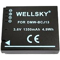 [WELLSKY] Panasonic パナソニック DMW-BCJ13 互換バッテリー [ 純正充電器で充電可能 残量表示可能 純正品と同じよう使用可能 ] LUMIX ルミックス DMC-LX5 / DMC-LX7