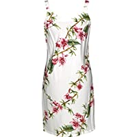 RJC Women's Scenic Bamboo Short Hawaiian Bias Cut Slip Dress