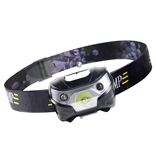 Chamsaler ヘッドライト USB充電式 LED センサー感応機能 コンパクト 自由に角度を調整 ヘッドランプ 最高照度 防水 アウトドアライト 小型軽量 夜釣り ハイキング キャンプ サイクリング 登山 防災 非常時用
